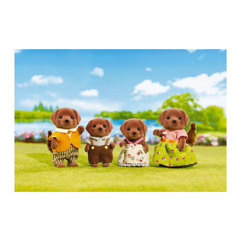 Calico Critters Chocolate Larador Family