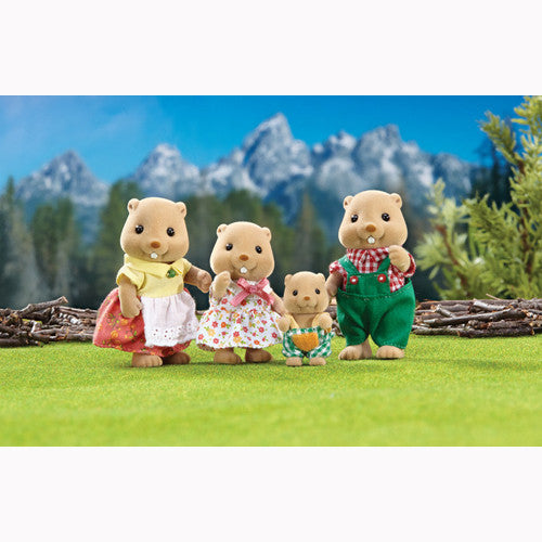 Calico Critters Woodbrook Beaver Family