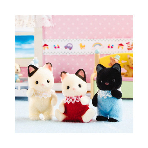 Calico Critters 3 Tux Cat Triplets