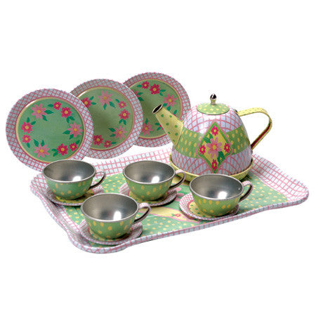 Schylling Tin Tea Set-Childrens