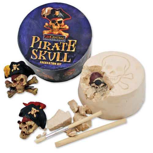 GeoCentral Pirate Skull Dig Kit