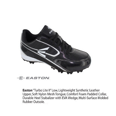 Sportime Easton Turbo Low  Black 6.0