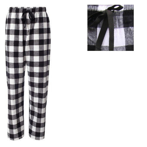 Boxercraft Plaid Flannel Pants Black/White Adult Small