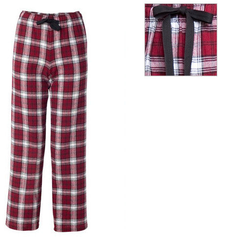 Boxercraft Plaid Flannel Pants Maroon/White Adult Medium