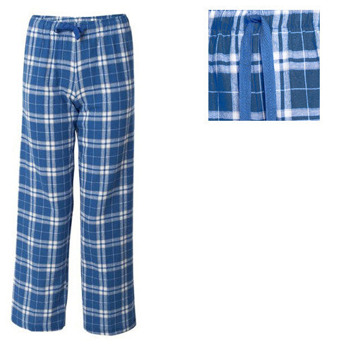 Boxercraft Plaid Flannel Pants Royal/Silver Adult XL