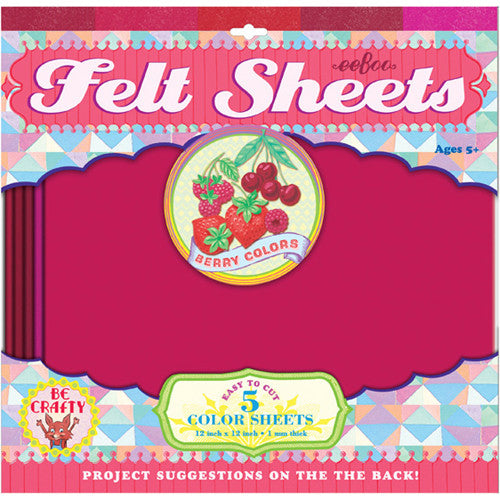 Eeboo Felt Sheets Berry