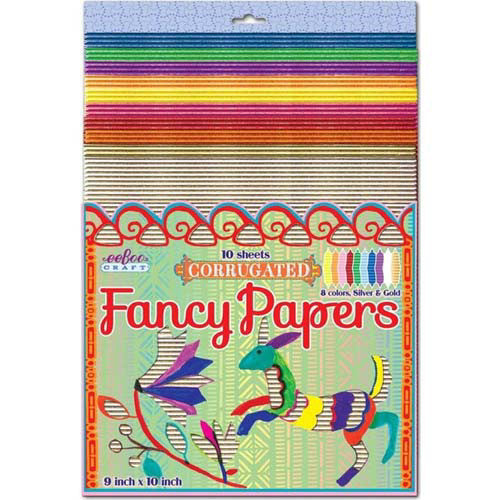 Eeboo Fancy Paper Corrugated 10 sheets