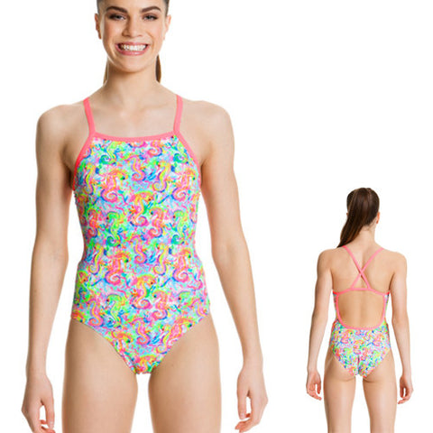 Funkita Poly Girls CrossBk Sea Queens 12