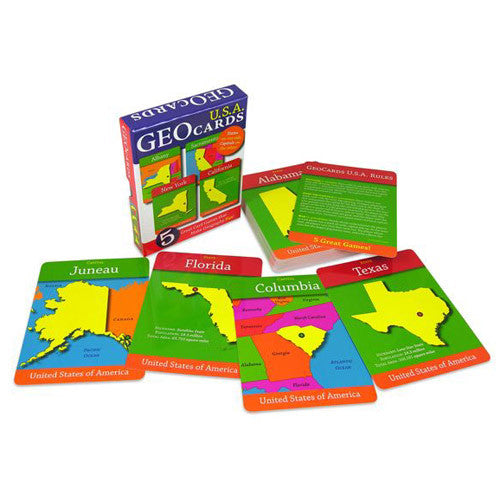 GeoToys USA GeoCards Trivia Game