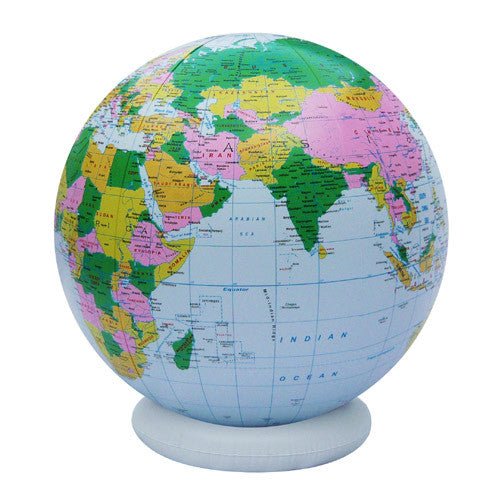 GeoToys 24 inch Blue Inflatable Globe