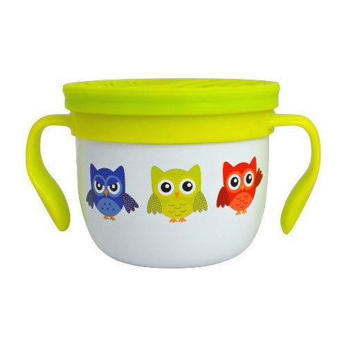 Eco Vessel Gobble N Go Snack Cup White w/ Owls
