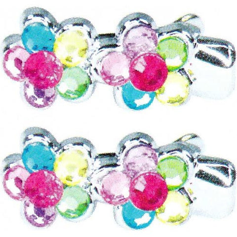 Pink Poppy Carnival Gem Mini Hairclips