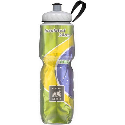 Polar 24oz Insulated Water Bottle Flag Brazil