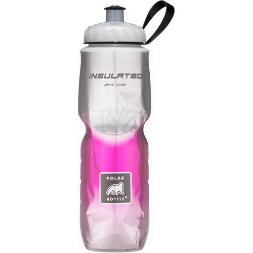 Polar 24oz Insulated Water Bottle Fade Pink