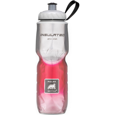 Polar 24oz Insulated Water Bottle Fade Red