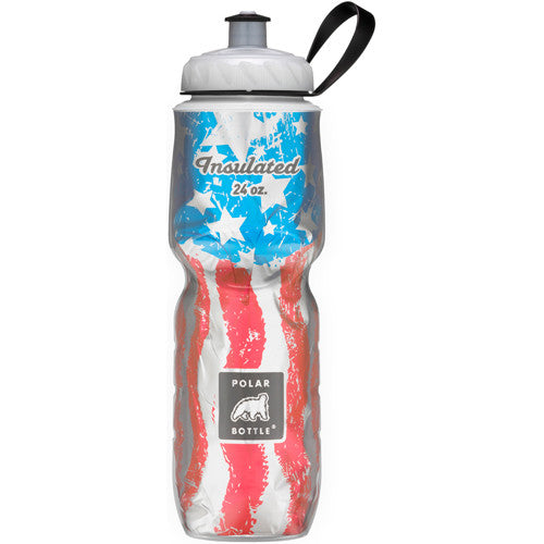 Polar 24oz Insulated Water Bottle Flag USA