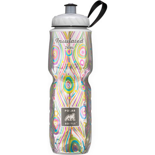 Polar 24oz Insulated Water Bottle Graphic Peacock