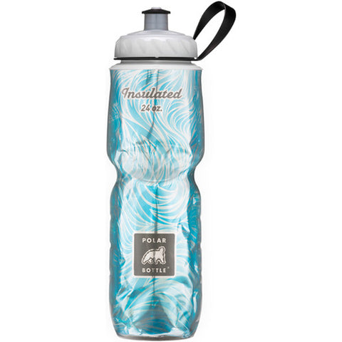 Polar 24oz Insulated Water Bottle Graphic Sea Breeze