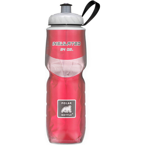 Polar 24oz Insulated Water Bottle Red