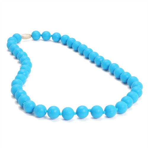 Chewbeads Necklace Teether Necklace| Deep Sea Blue