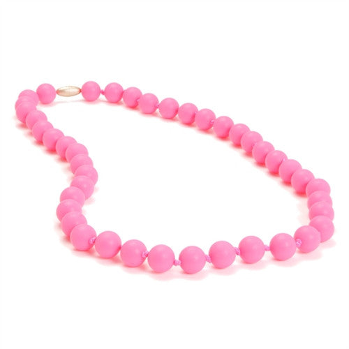 Chewbeads Necklace Teether Necklace| Punchy Pink