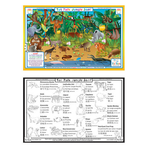Tot Talk Jungle Placemat