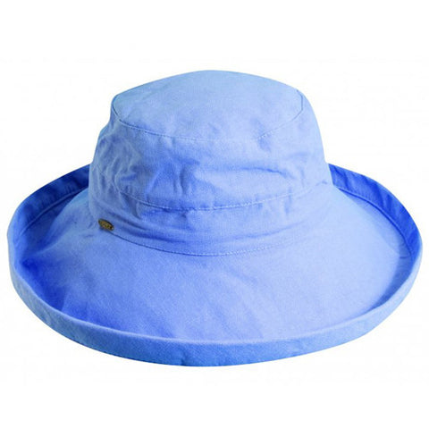 "Scala Cotton Hat 3"" Brim Periwinkle"