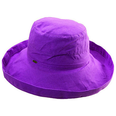 "Scala Cotton Hat 3"" Brim Purple"