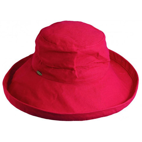 "Scala Cotton Hat 3"" Brim Red"