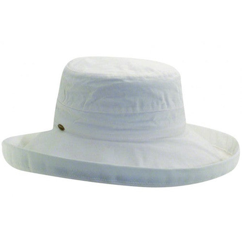 "Scala Cotton Hat 3"" Brim White"