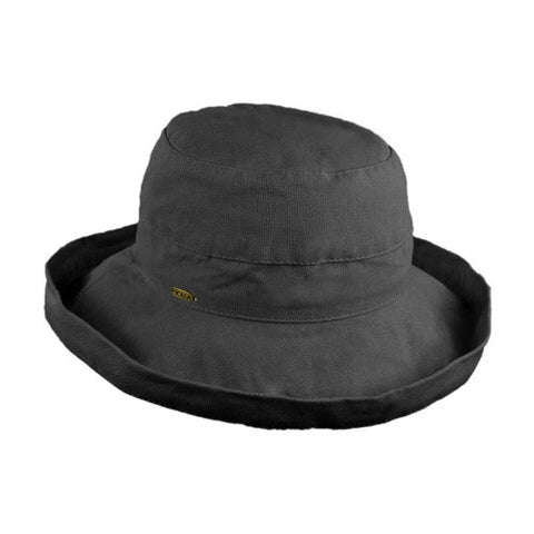 "Scala Cotton Hat 2.5""Brim Black"