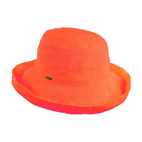 "Scala Cotton Hat 2.5""Brim Coral"