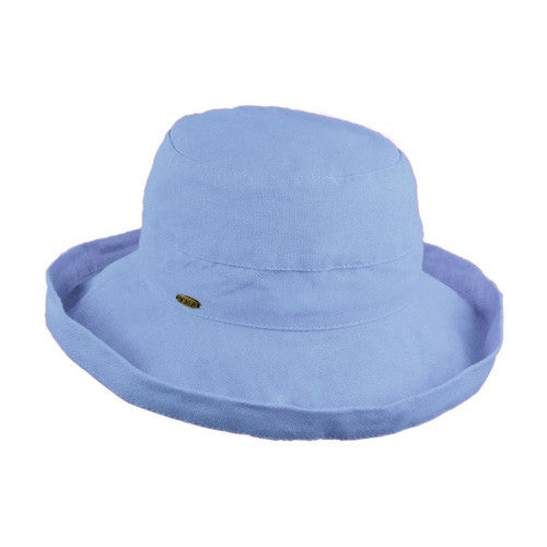 "Scala Cotton Hat 2.5""Brim Periwinkle"