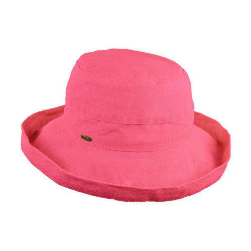"Scala Cotton Hat 2.5""Brim Rose"