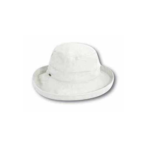 "Scala Cotton Hat 2.5""Brim White"
