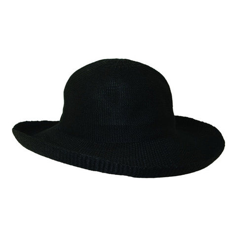 "Scala Cloth Poly Knit Black-3"" Brim"