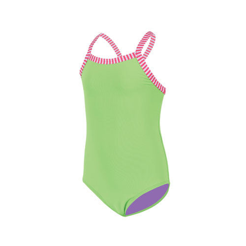 Dolfin Little Girls Solid Lime 3T