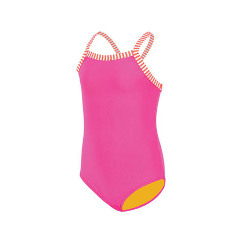 Dolfin Little Girls Solid Pink 6X