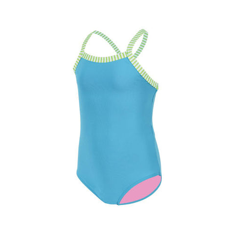 Dolfin Little Girls Solid Turquoise 6X