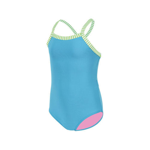 Dolfin Little Girls Solid Turquoise 2T
