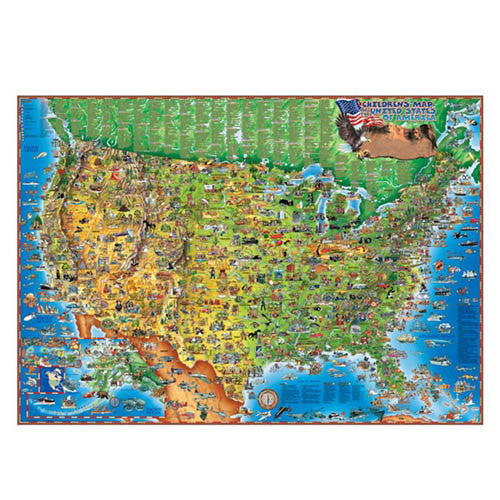 Round Solutions USA Wall Map
