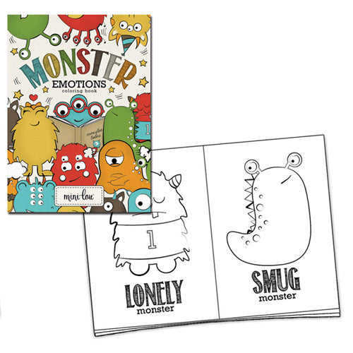 Mini-Lou Monster Emotions Coloring Book