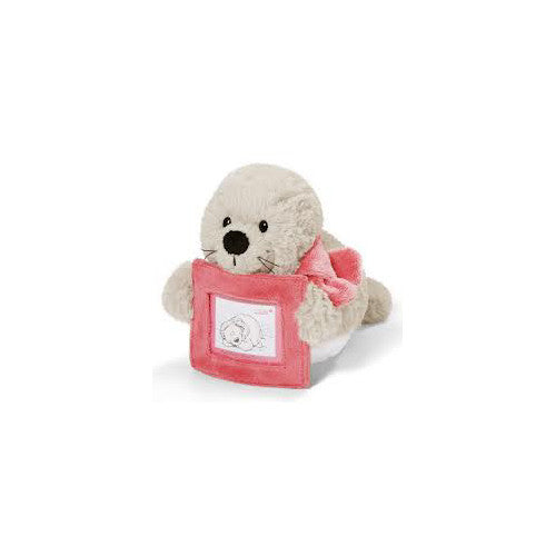 "NICI 8"" lying Seal w/Picture Frame"