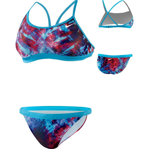 Nike Fractured TieDye 2pc Vivid Blue 30