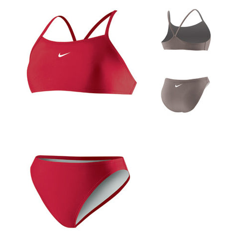 Nike Poly Sport Top 2pc Red 12