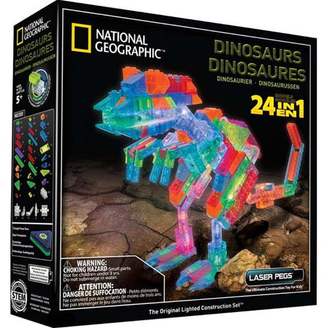 Laser Pegs National Geographic Dinosaurs
