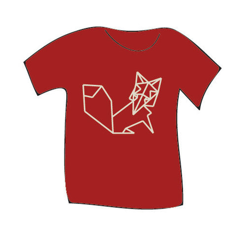 Teres Kids Tee Oragami Fox Cardinal Red XS 4T