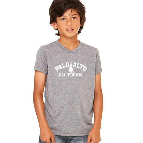 PASS Tee BC Triblend Trad Tree Grey Yth.Small