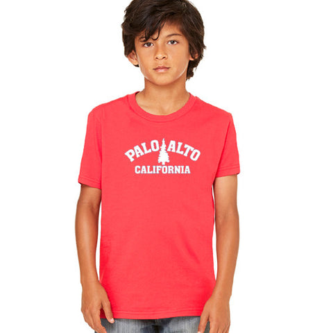 PASS Tee BC Triblend Trad Tree Red Yth.Small