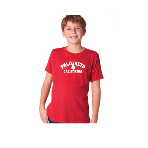 PASS Tee Triblend Trad Tree Vintage Red Yth.Small